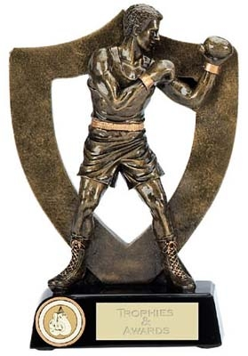 Resin Boxer Trophy A353