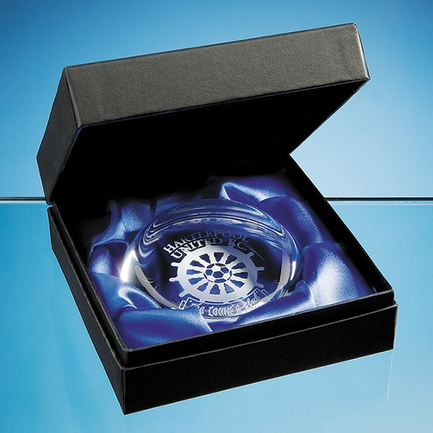 PB9 Paperweight Sillk Lined Presentatioon Box