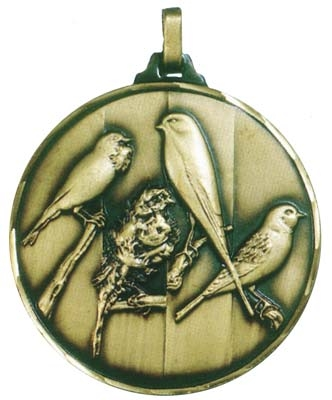 Faceted Birds Medal