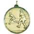 Faceted Women's Hockey Medal