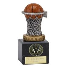 137B.FX029 Basketball Trophy on Marble Base