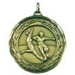 Faceted Women's Football Medal