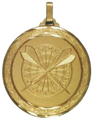 Faceted Darts Medal