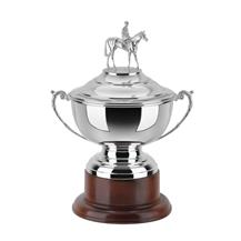 12.5 inch Horse Trophy Silver Plated HJL805