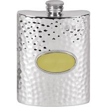 6oz Pewter Hip Flask - Hammered