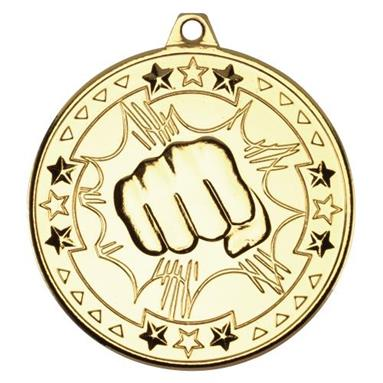 Martial Arts Medal Gold M74G