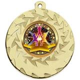 Gold Cheerleader Medals