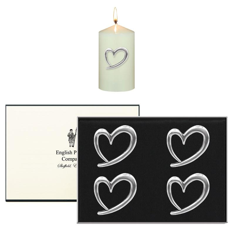 Candle Pins Hearts CAN01