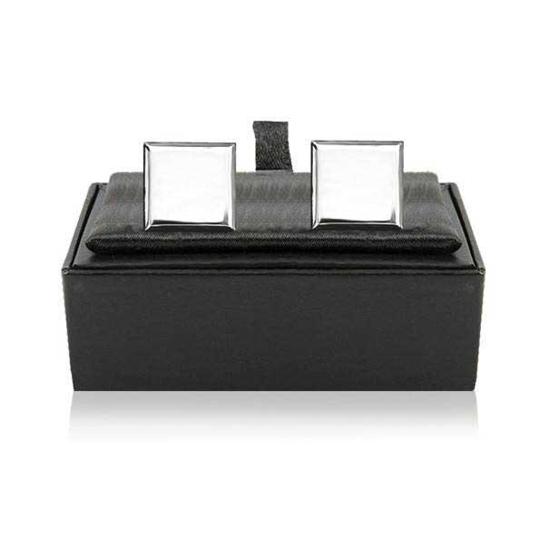 Square Silver Plated Cufflinks CUF021