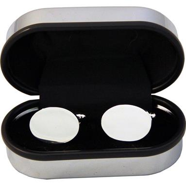 Oval Cufflinks Silverplated CFL01OVSP