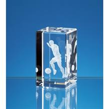 3D Crystal Football Award NAN3