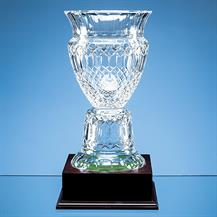 L432 Crystal Footed Trophy Vase