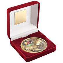 JR1-TY19A Football Medal in Red Medal Box