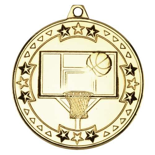 M82G Gold Basketball Medal 50mm