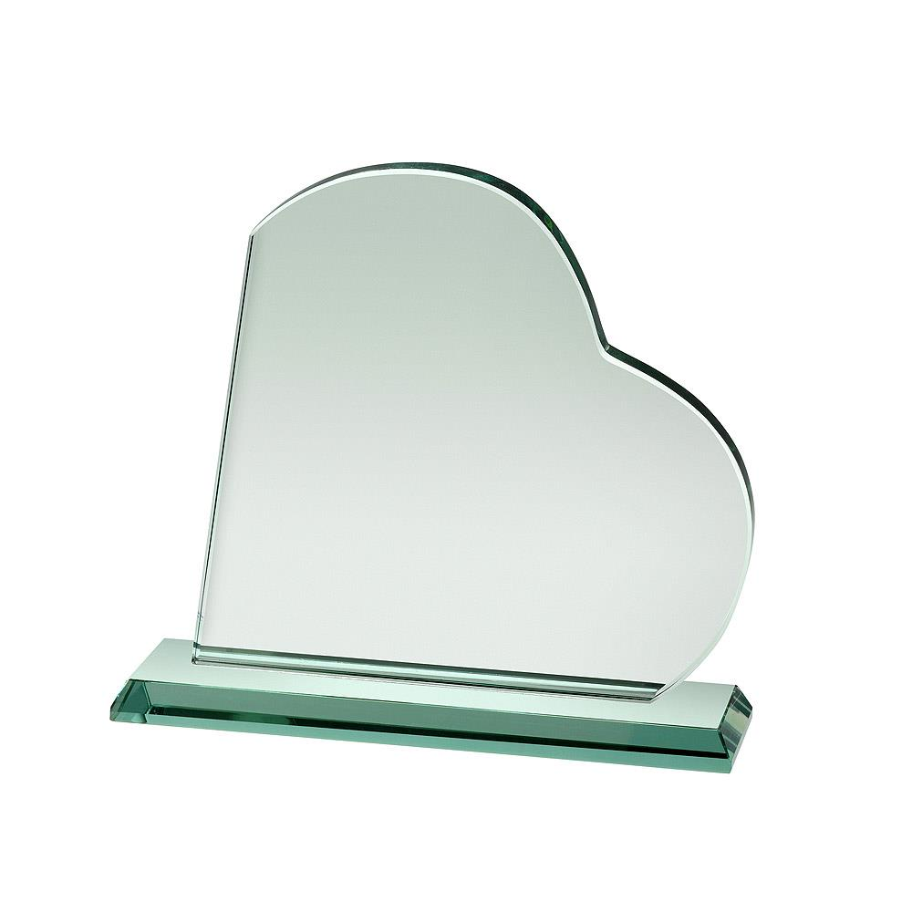 HC038C Heart Shaped Glass Award