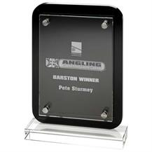GW30KC Black Glass Plaque 10 inch