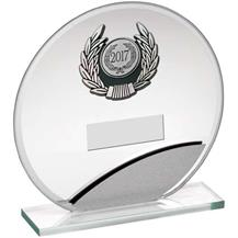 JR17-TY168B Jade Silver Glass Circle Award
