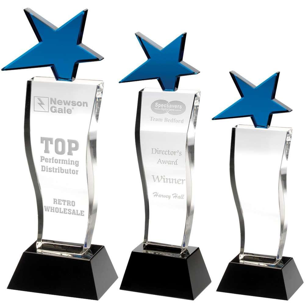 CBG14A, CBG14B, CBG14C Blue Star Glass Award