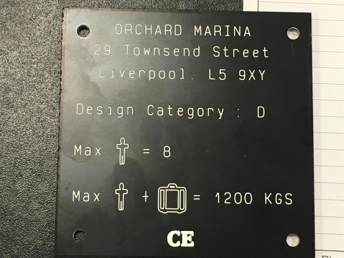 Rigid Laminate Technical Plaque