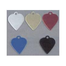Aluminium Heart Pet Tag