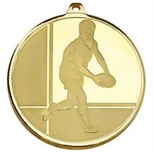 AM2010.01 Gold Rugby 50mm Medal