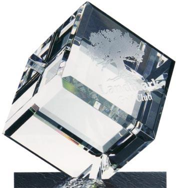 Optical Crystal Bevelled Diamond Cube