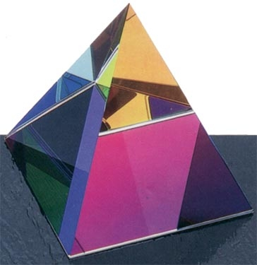 Optical Crystal Desktop Pyramid