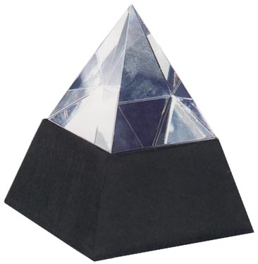 Optical Crystal Desktop Pyramid on Marble base