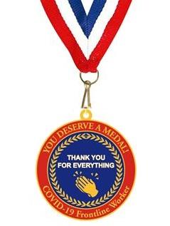 Bespoke Covid-19 Thank You Medal with Ribbon