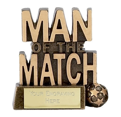 Man of the Match Football Trophy A878