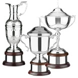Silver Plated Golf Trophies
