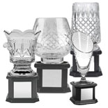 Golf Crystal Glass Ware Awards Trophies