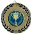 50mm Gold Enamelled Medal AM150G