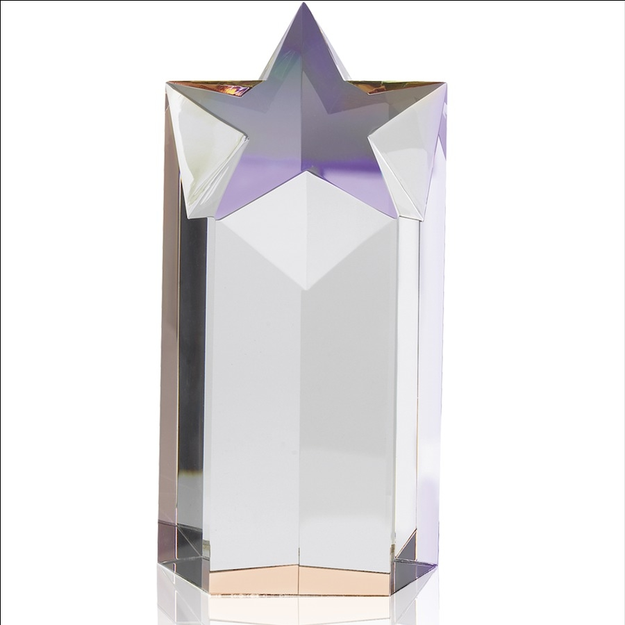 7 inch (17.8cm) Magnificent Crystal Star Award