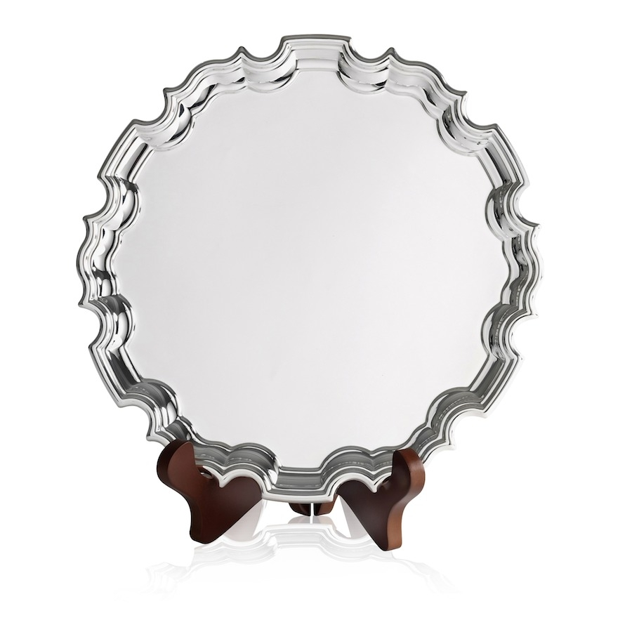 CN1503 Silver Plated Chippendale Tray