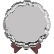 Nickel-Plated Heavy-Gauge Round Chippendale Tray