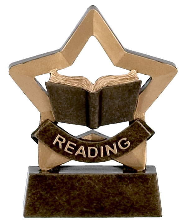 Reading Trophy Achievement Mini Star Award - A973