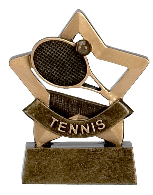 Tennis Trophy Mini Star Award - A954
