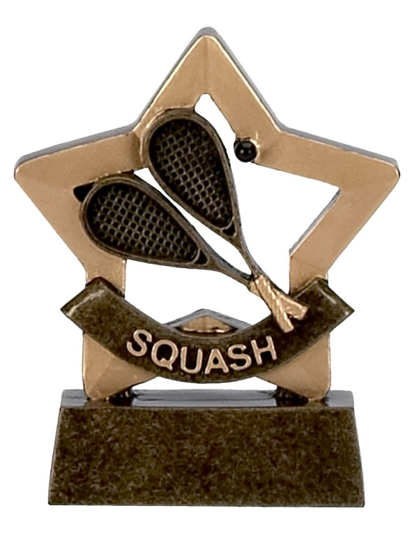 Squash Trophy Mini Star Award - A970
