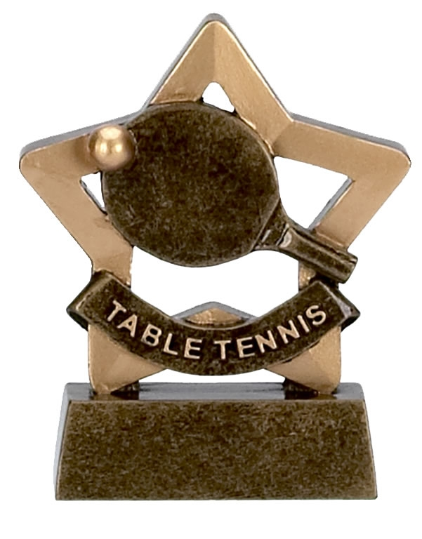 Table Tennis Trophy Mini Star Award