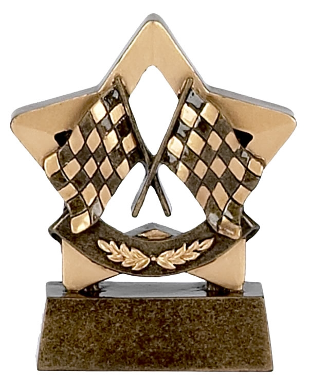 Chequered Flag Mini Star Award - A977