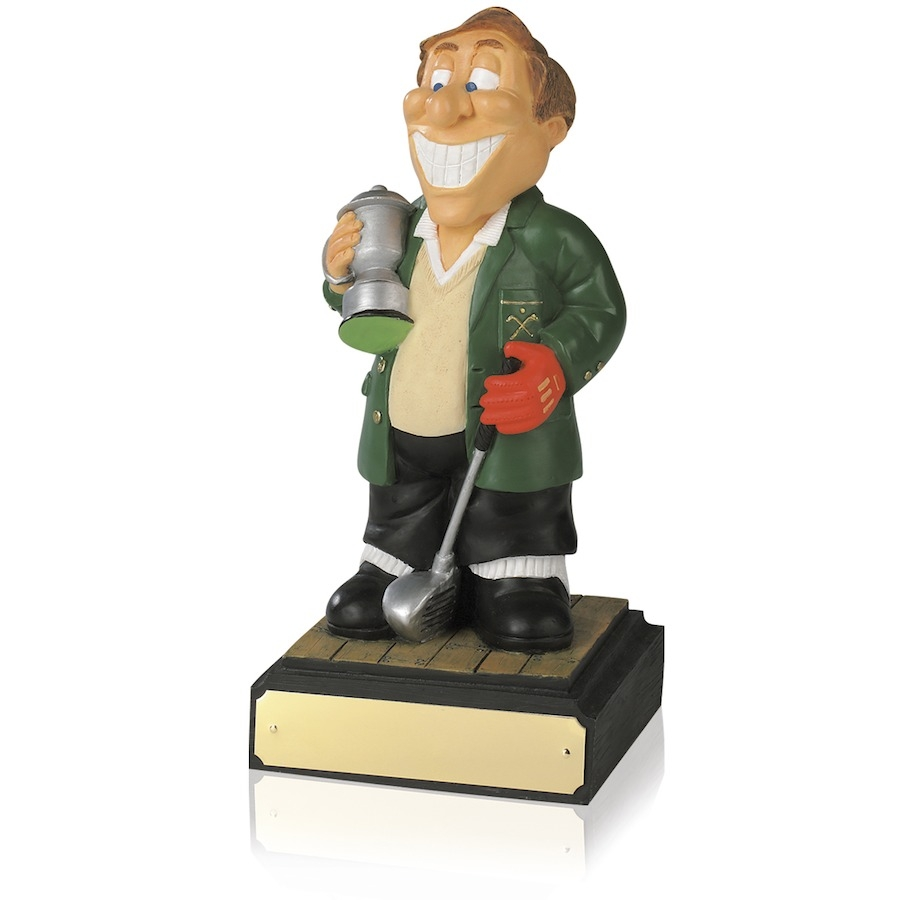 8inch Hand Painted Golf Figure - Winner - SH01