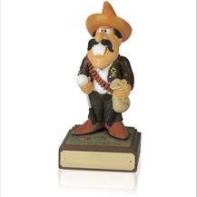 8inch Hand Painted Golf Figure - The Bandit - SH23