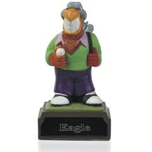 4inch Hand Painted Golf Figure -  Eagle - H02