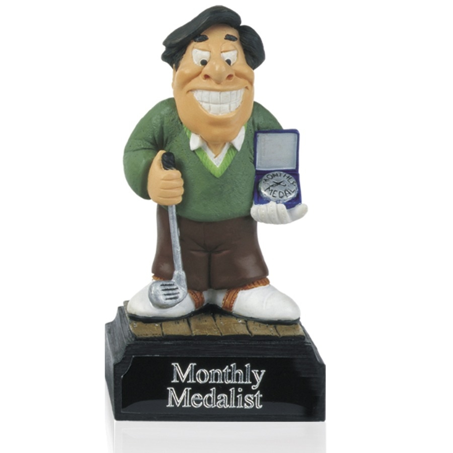 4inch Hand Painted Golf Figure -  Monthly Medalist - H10