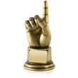 Number 1 Award in Antique Gold Finish