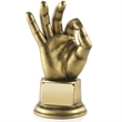 OK - Perfect Award in Antique Gold Finished Resin