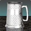 Full Hammered - Pewter Tankard - 1 pint (EP007)