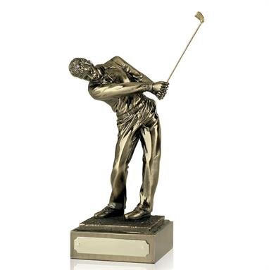 'Follow Through' Bronze Finish Golf Figure.  Available in 3 sizes
