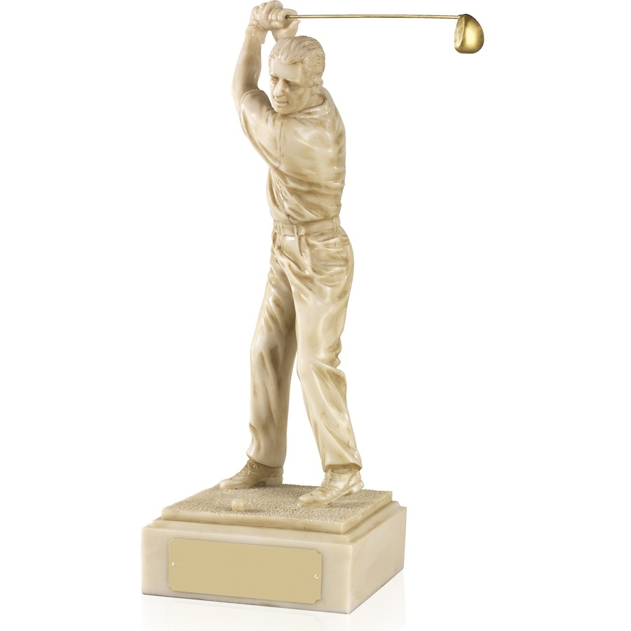 Ivory Effect Golf Figures - Available in 4 sizes - LRS34-37